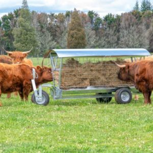 Wheeled Hay Feeders - 3 Wheeled Gooseneck Feeders